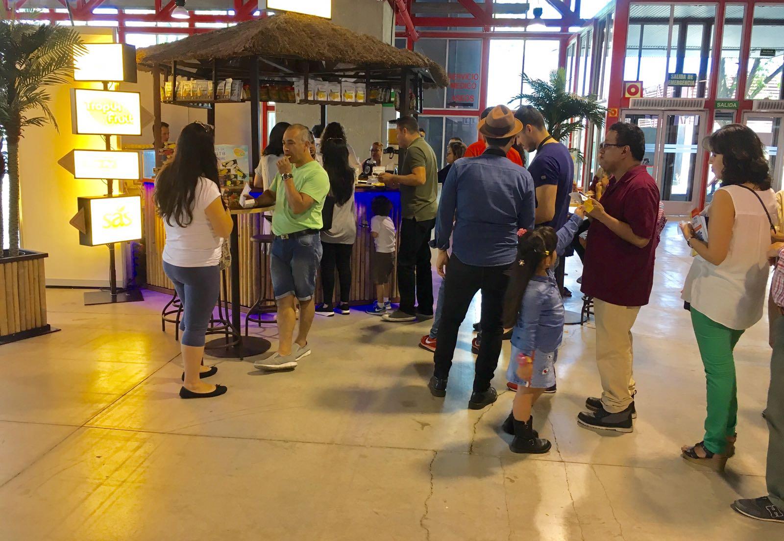 Stand de Ibero Express en la II Feria para colombianos en Madrid