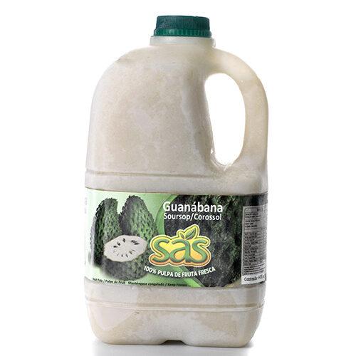 Pulpa de guanábana garrafa azucarada 1/2 galón