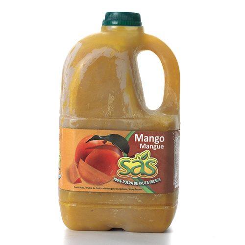 Pulpa de mango garrafa azucarada 1/2 galón