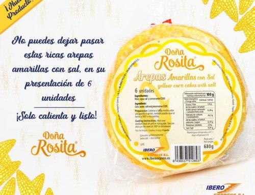 Arepas amarillas con sal, presentación de 6 unidades [NUEVO PRODUCTO]